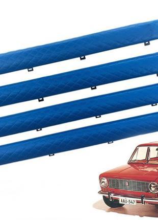 Батоны на Ваз 2102 на двери ромб синий