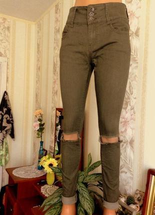 Рваные джинсы denim co s-м ка