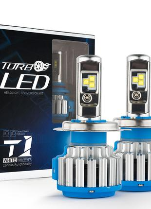 """Лампа LED H4 вентилятор 3600Lm """"Turbo Led"""" T1 /CREE/40W/6000K/..."""