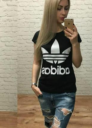 Футболка женская adidas адидас черная