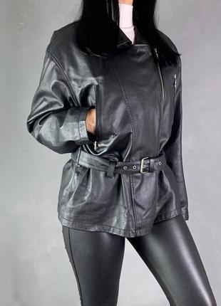 Косуха куртка кожаная кожанка в ретро стиле