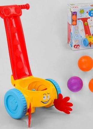 Каталка музыкальная с шариками, 0818, для детей от 1 года, Пак...