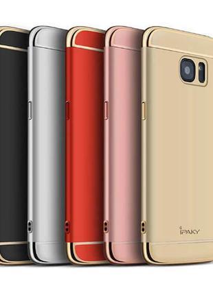 Бампер пластиковый со вставками для Samsung Galaxy S7 edge