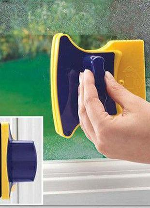 Магнитная щетка для мытья окон с двух сторон Glass Wiper Window