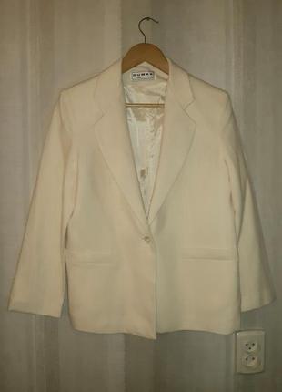 Базовый шерстяной пиджак на подкладке американского бренда, р. 50