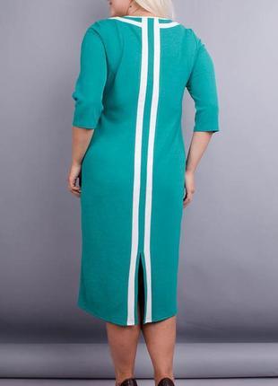 Размеры 50-64! нарядное платье лиза бирюза, большой размер!