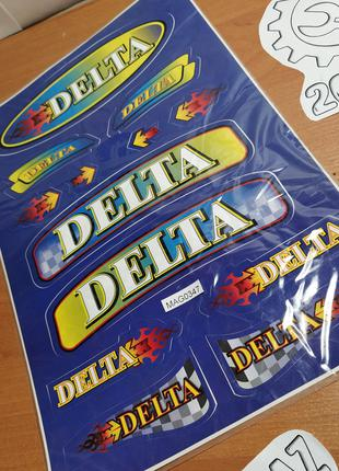 Наклейки (набор) DELTA (33х22см, разноцветные)