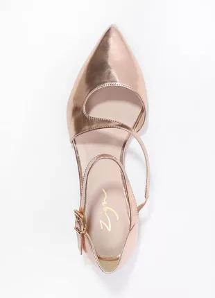 Балетки цвета розовое золото испанский бренд zign по стельке 26см