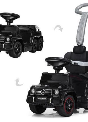 Детский электромобиль-толокар Mercedes M 3853 EL-2, мягкое сидень
