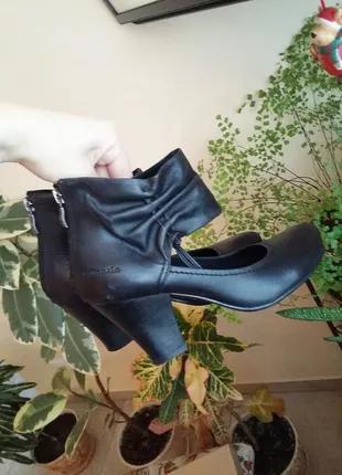 Туфли из натуральной кожи немецкого бренда tamaris