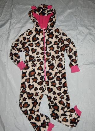Слип пижама плюшевая человечек на девочку 6 лет 116см от next