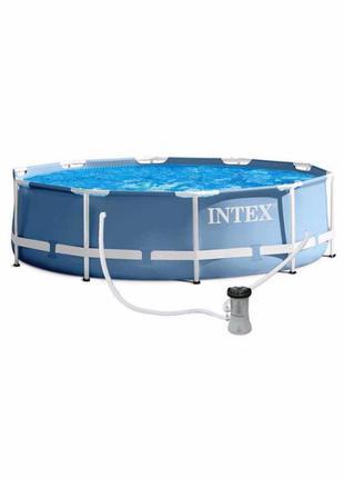 Бассейн каркасный Intex 28702 с фильтр-насосом 305 х 76 см 448...