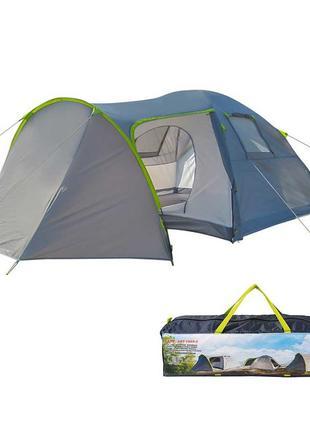 Палатка 4-х местная с тамбуром GreenCamp. Q 1009-2, 2 входа