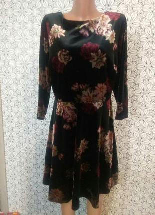 Велюровое платье-миди от new look