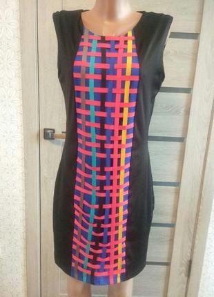Платье-миди с яркими переплётами от berjer