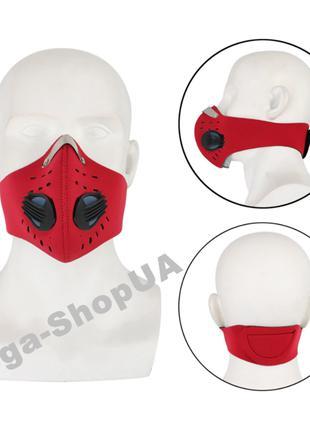 Спортивная маска респиратор с угольным фильтром многоразовая. ...