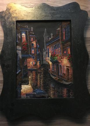 Картина вышивка венеция