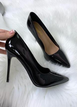 ❤ женские черные лаковые туфли лодочки ❤