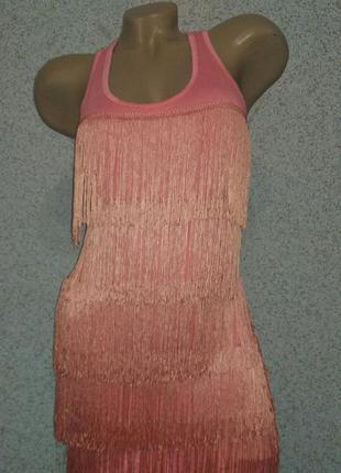 Платье туника с бахромой
