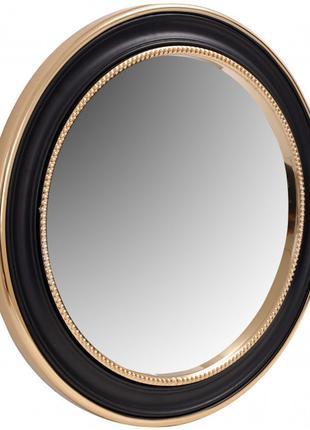 Настенное зеркало Kayoom Round 625 Gold/Black Ø 58 см