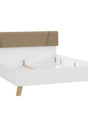 Кровать двуспальная Forte Olinda белый/дуб