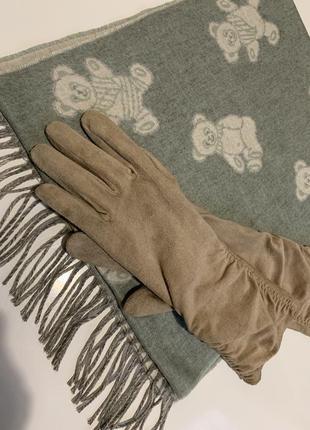 Набор шарф и перчатки