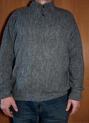 Шерстяной мужской свитер 100% альпака.