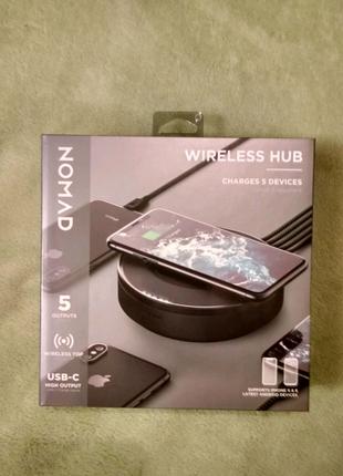 Nomad Wireless hub (Хаб для беспроводной и проводной зарядки)