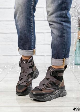 ❤ женские черные нубуковые осенние деми  ботинки сапоги полуса...