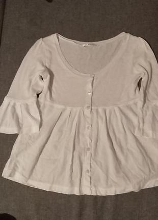 Белая оригинальная блуза кофта