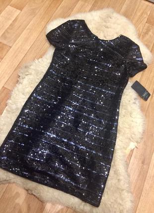 Шикарное платье zara в пайетках