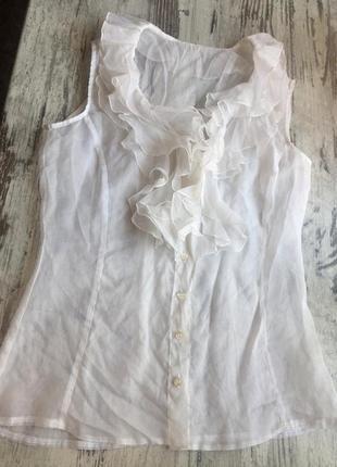 Прозрачная блуза с воланами