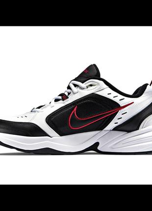 Бело-черные кроссовки nike monarch