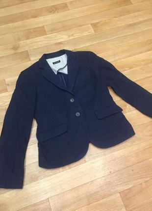 Шикарный шерстяной пиджак жакет massimo dutti