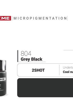 Пигменты для татуажа Doreme 804 Grey Black Doreme 2Shot Pigments