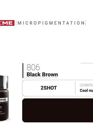 Пигменты для татуажа Doreme 806 Black Brown Doreme 2Shot Pigments