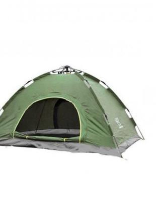 Палатка автоматическая 4-х местная Зеленая с автоматическим ка...