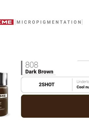 Пигменты для татуажа Doreme 808 Dark Brown Doreme 2Shot Pigments