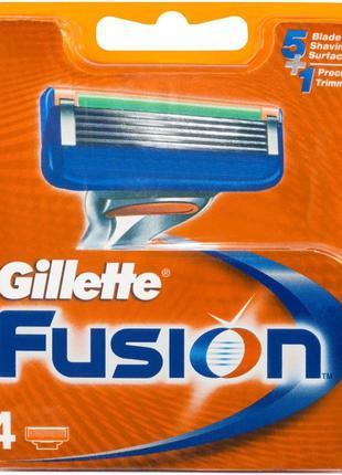 Сменные кассеты для бритья Gillette Fusion 4 шт Сменные лезвия...