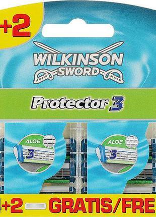 Сменные кассеты для бритья Wilkinson Sword Protector 3 - 4+2 ш...
