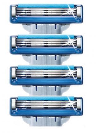 Сменные кассеты для бритья Gillette Mach 3 Turbo 4шт без упако...