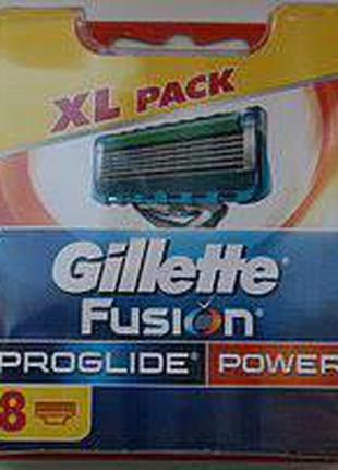 Сменные кассеты для бритья Gillette Fusion Proglide Power 8шт ...
