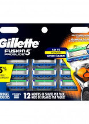 Сменные кассеты для бритья Gillette Fusion Proglide Power 12шт...
