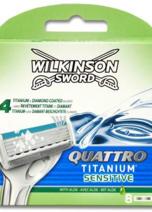 Сменные кассеты для бритья Wilkinson Sword Quattro Titanium Se...