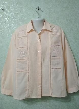 Блуза с прошвой.