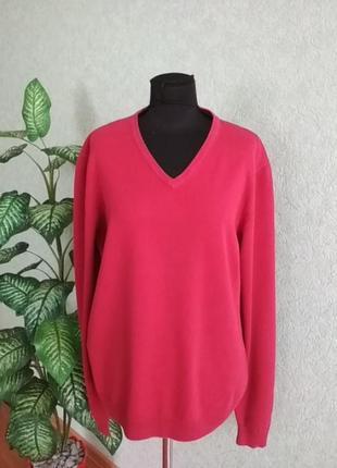 Пуловер мужской красно-малиновый angelo litrico.