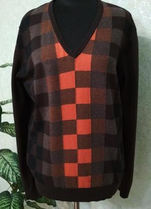 Свитер мужской пуловер теплый.ук. р-54+. ben sherman.