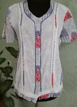 "Красивая батистовая блуза ""марина""ук. р-46-48."