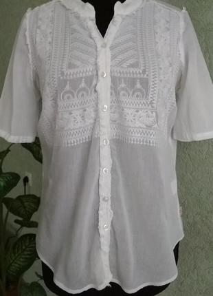 Белая блуза кофта didi. ук.р-48+.