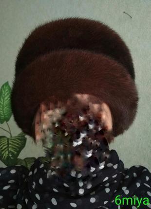 Женская норковая шапка. р-56.